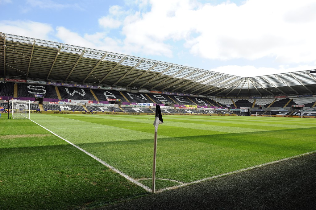 SWANSEA, WALES - APRIL 13: A general view of the stadium ahead of the Barclays Premier League match between Swansea City and Chelsea at the Liberty Stadium on April 13, 2014 in Swansea, Wales. (Photo by Chris Brunskill/Getty Images)